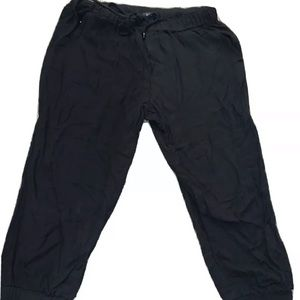 Forever 21 Cotton Jogger Capri Pants Black Small